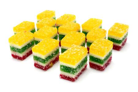comfit: Multi-coloured fruit candy, fruit jelly Stock Photo