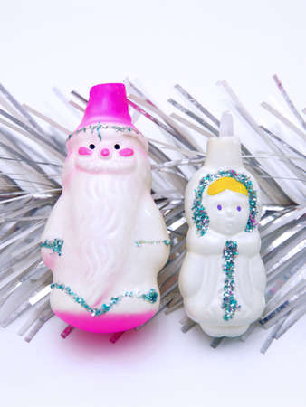 Russian Christmas characters Father Frost (Ded Moroz) and Snow Maiden (Snegurochka) Stock Photo - 8205847