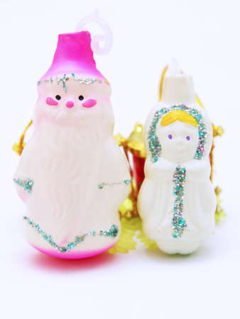 'ded moroz': Russian Christmas characters Father Frost (Ded Moroz) and Snow Maiden (Snegurochka)