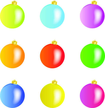 Excellent Christmas-tree decorations for you! - vector Stock Vector - 8364603