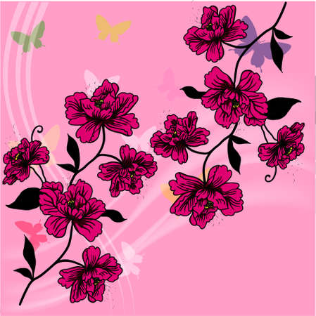 eps10 hand drawn background with a fantasy flower photo