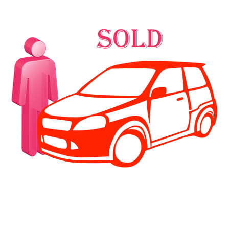 The car and icon of the person selling it