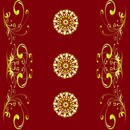 Vector eps10. A monophonic background of wallpaper with patterns and the accented circles Vector