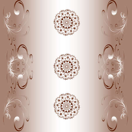 Vector eps10. A monophonic background of wallpaper with patterns and the accented circles Stock Vector - 8510809