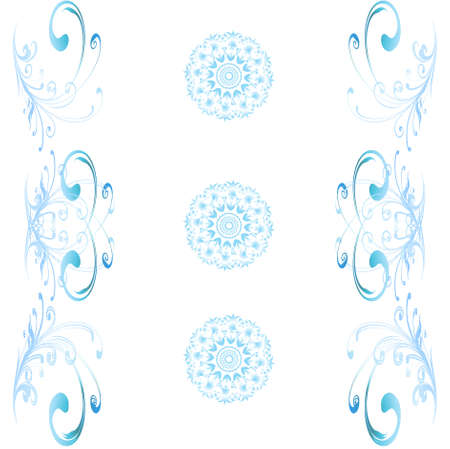 monophonic: Vector eps10. A monophonic background of wallpaper with patterns and the accented circles Illustration