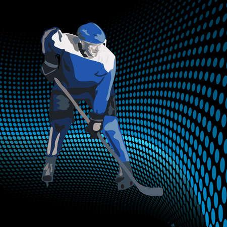 hockey sobre hielo: Jugadores de hockey sobre hielo. Ilustraci�n vectorial
