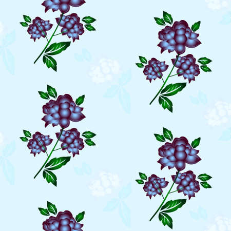 Seamless floral background. Repeat many times. Vector illustration. Stock Vector - 8547227