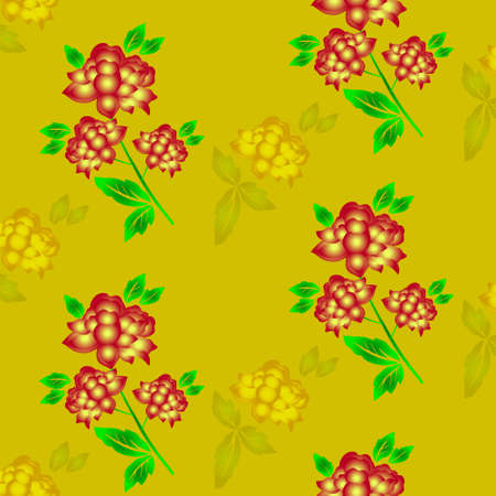 Seamless floral background. Repeat many times. Vector illustration. Stock Vector - 8547226