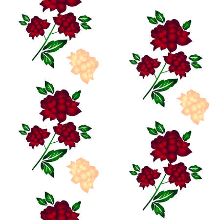 Seamless wallpaper  a seam with flower and leaves eps10 Stock Vector - 8547225