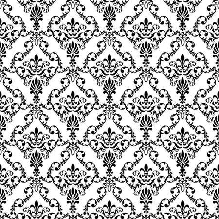 damast: Nahtlose Wallpaper Pattern von abstrakten glatte Formen,