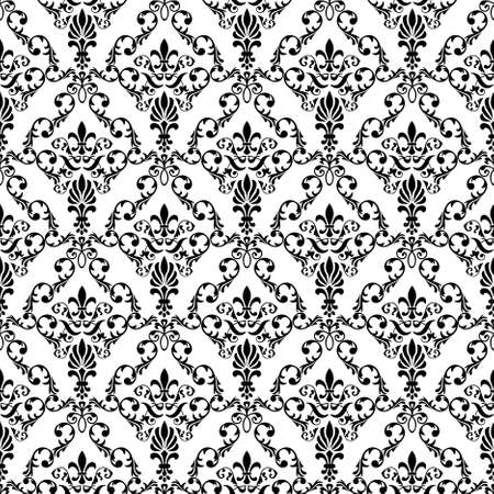 wallpaper pattern: Seamless wallpaper pattern from abstract smooth forms,