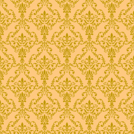 Seamless wallpaper pattern from abstract smooth forms,  Vector