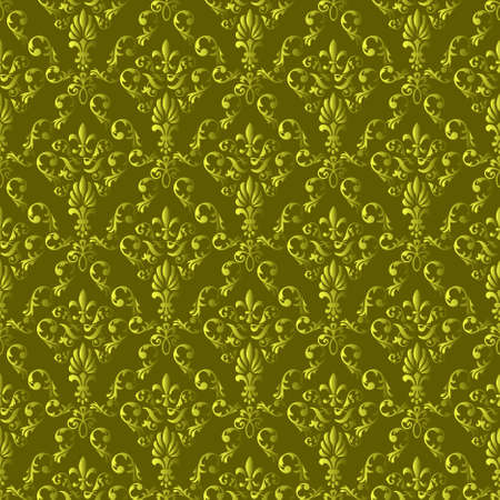 Seamless wallpaper pattern from abstract smooth forms Vector