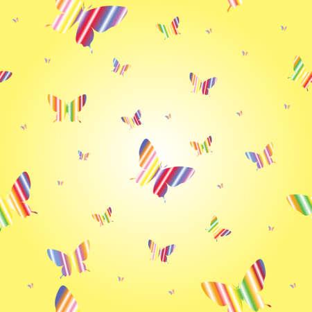 Abstract seamless wallpaper pattern butterflies. A Vector. Vector