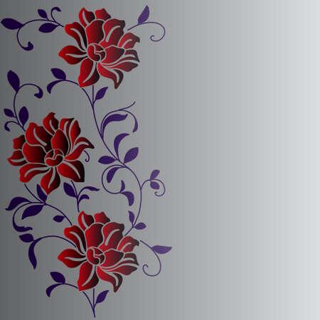 crisantemos: eps10 mano fondo dibujado con una flor de fantas�a Vectores