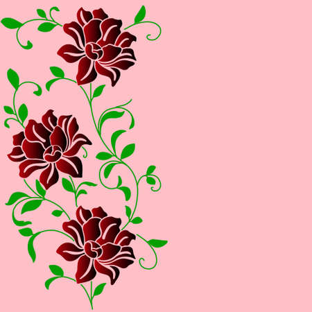 eps10 hand drawn background with a fantasy flower Vector