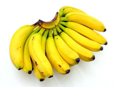 banane: Bouquet de bananes isol� sur fond blanc
