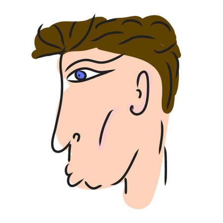 bronzed: Portrait of the man