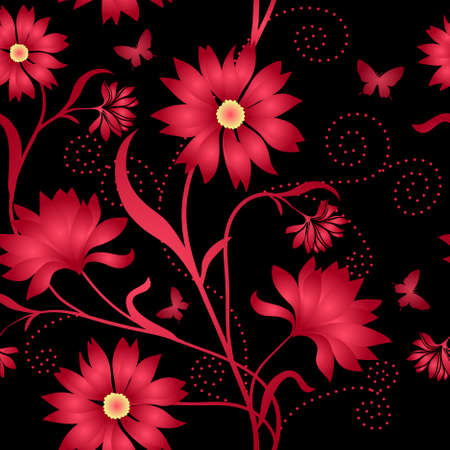 Elegance Seamless color pattern on background Vector