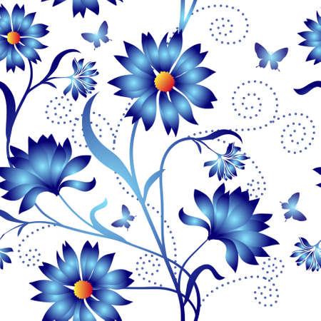 Elegance Seamless color pattern on background Illustration