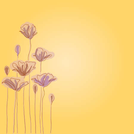 eps10 hand drawn background with a fantasy flower