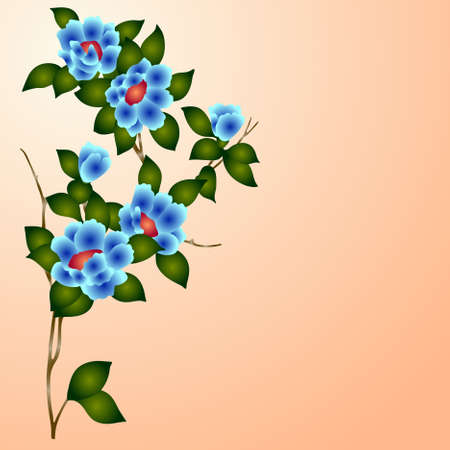 eps10 hand drawn background with a fantasy flower Stock Vector - 8955629