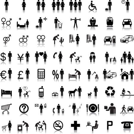 emergency icon: Website and Internet Icons -- People Illustration