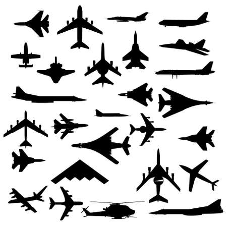 avion de chasse: Avions de combat Illustration