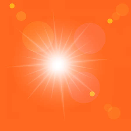 Vector sunrise in the orange sky Stock Vector - 9079679