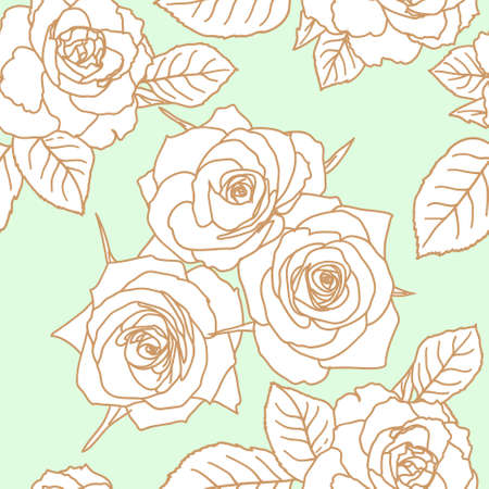 flore: Seamless wallpaper with rose flowers