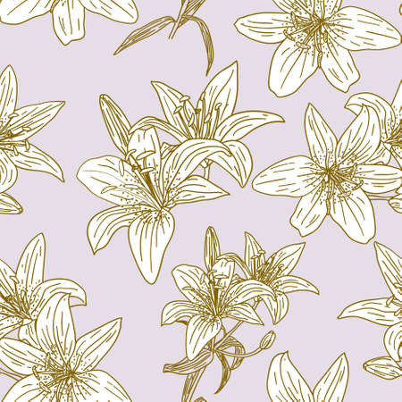 flores vintage: Seamless wallpaper with beautiful flowers