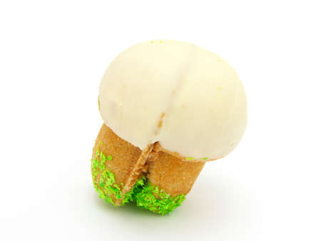 condensed: Shortbread mushroom-shaped with condensed milk