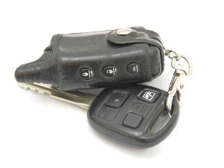 Car keys, objects isolated on white background . Stock Photo - 9236495