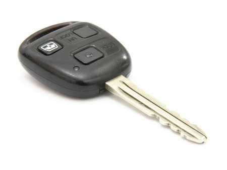 Car key, object isolated on white background . Stock Photo - 9236388