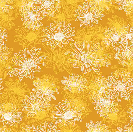 Vector flower seamless background Vector