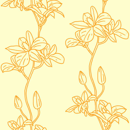 Vector seamless background with orchids Stock Vector - 9275207