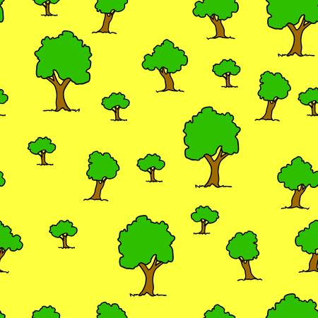 Seamless tree plant  pattern background in vector Vector