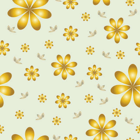 floral wallpaper with set of different flowers. Could be used as seamless wallpaper, textile, wrapping paper or background Stock Vector - 9445666