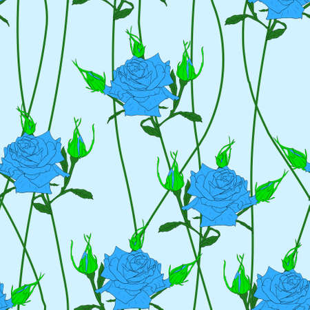 Seamless  background with flower roses. Could be used as seamless wallpaper, textile, wrapping paper or background  Vector