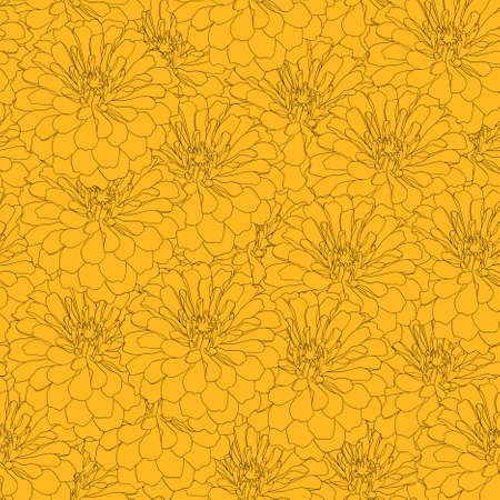 Seamless  background with flower. Could be used as seamless wallpaper, textile, wrapping paper or background Vector