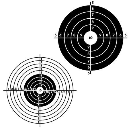 Set targets for practical pistol shooting, exercise. Stock Vector - 9485330