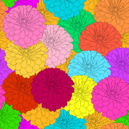Seamless  background with flower. Could be used as seamless wallpaper, textile, wrapping paper or background