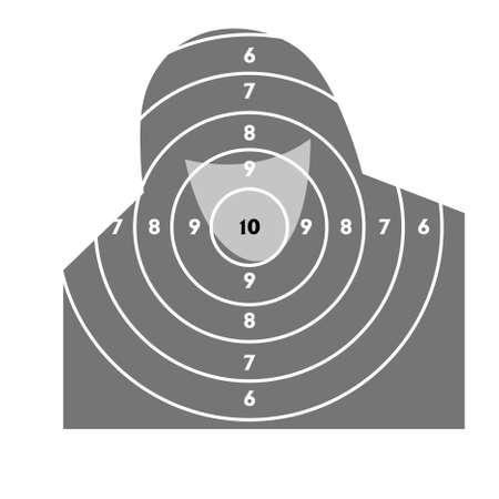 El objetivo de disparos de pr�ctica en un campo de tiro con una pistola Foto de archivo - 9485334