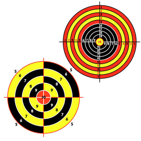 Set targets for practical pistol shooting, exercise. Stock Vector - 9485328