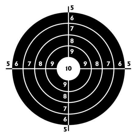 target practice: The target for shooting practice at a shooting range with a pistol