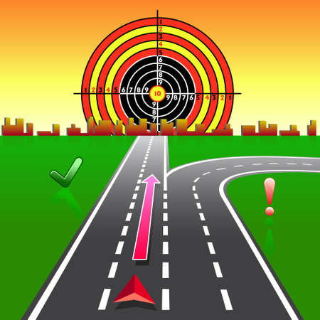 Map GPS Navigator on the streets of the city is moving toward the goal Vector