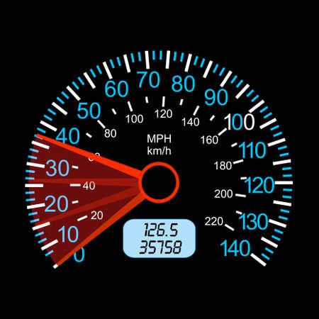 tachometer: car speedometer for racing design. Illustration