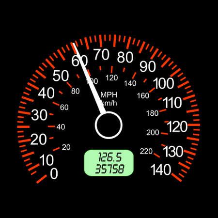 car speedometers for racing design. Illustration
