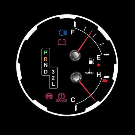 car dashboard Stock Vector - 9848645