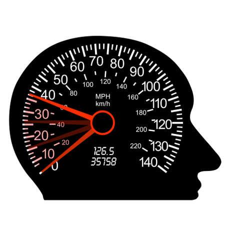 car speedometer in the human brain Stock Vector - 10036725